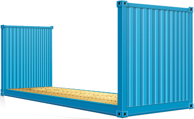 20' Container Flat Rack collapsible